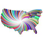 Psychedelic United States Map