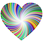 Psychedelic Heart Design
