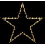Gold Decorative Star