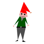 Triangular christmas elf