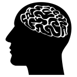 Head with brain silhouette