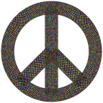 Peace Sign Checkerboard Polyprismatic