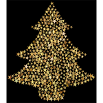 Christmas Tree Stars Gold