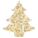 Christmas Tree Stars Gold No BG