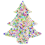 Christmas Tree Stars Chromatic No BG