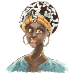 African Woman Illustration Geometric