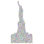 Statue Of Liberty Profile Silhouette Circles Prismatic