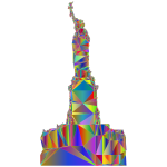 Statue Of Liberty Profile Silhouette Low Poly