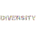 Diversity Hands Typography Polyprismatic