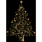 Starry Christmas Tree Gold II