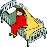 Child in a hospital bed