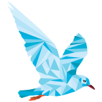 Low Poly Blue Bird