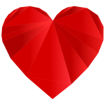Red Heart Low Poly