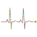 EKG Rhythm Circles Polyprismatic
