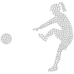 Girl Kicking Soccer Ball Silhouette Balls