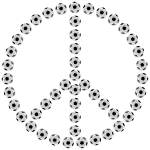 Soccer Ball Peace Sign