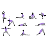 Yoga Poses - Purple Shirt