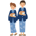 Onsen guests