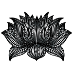Decorative Lotus Line Art By AngelaRoseMS2 Duochrome