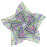 Geometric Line Art Star Prismatic No BG