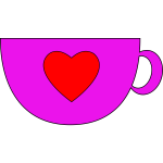 Pink Cup with heart in center