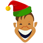 Laughing Christmas elf