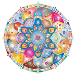 Intricate Floral Mandala By Amely II Prismatic No Black