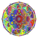 Intricate Floral Mandala By Amely II Polyprismatic No Black