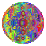 Intricate Floral Mandala By Amely II Polyprismatic Spectral