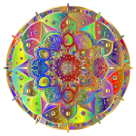 Intricate Floral Mandala By Amely II Polyprismatic Gold
