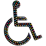 Wheelchair Thumbs Up Prismatic With BG