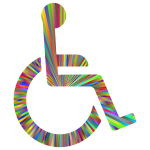 Wheelchair Icon Polyprismatic Rays