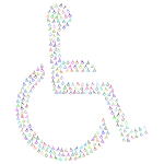Wheelchair Icon Fractal Prismatic