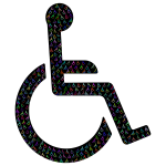 Wheelchair Icon Fractal Prismatic With BG