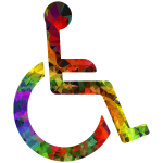 Multi-Gemstone Wheelchair Icon