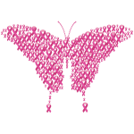 Pink Ribbons Butterfly
