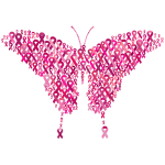 Pink Ribbons Butterfly Var 2