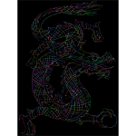 Dragon Line Art By PoseMuse Dots Prismatic