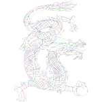 Dragon Line Art By PoseMuse Dots Prismatic No BG