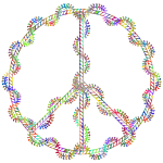 Rope And Leaves Peace Symbol Polyprismatic