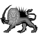 Polygonal Lion And Sun