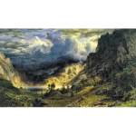 A Storm In The Rocky Mountains Mt Rosalie By Albert Bierstadt