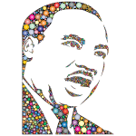 Martin Luther King Jr Silhouette Circles The Dream Is Still Alive Edition With BG