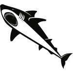 Shark silhouette graphics