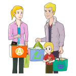 Family Shopping By pinterastudio