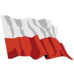 Poland Flag In The Wind