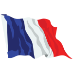 France Flag In The Wind