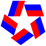Red White Blue Star Design