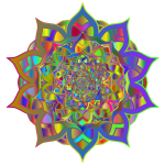 Geometric Interleaved Mandala Line Art Polyprismatic