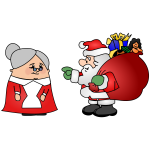 Santa Claus and his Wife